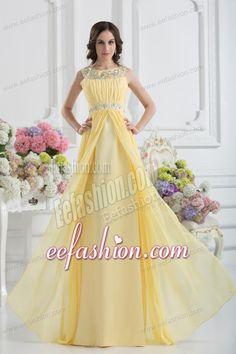 Empire-Scoop-Beading-Ruching-Light-Yellow-Prom-Dress-260.jpg (600×900)