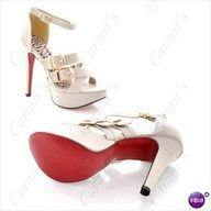 Sexy Cloth High Heel Sandals with Ankle Buckle Fasten & Panther Prints Insole Fo