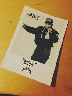 Eazy-E official Fan Club photo! #RespectTheClassics