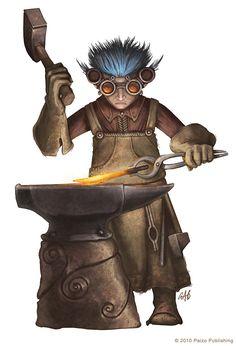 Gnome Blacksmith by christopherburdett.deviantart.com on @deviantART