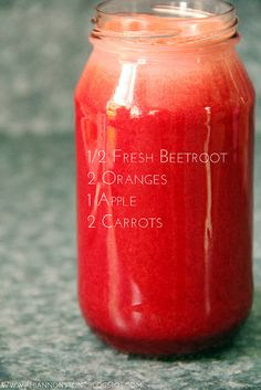 I love anything beet. Instead of using 1/2 beetroot, I like to add the whole thing in my juice and only put 1 orange in there instead. Apple is a necessity in this juice.