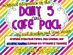 daily 5 & CAFE posters: This pack comes with my unofficial adaptation of the CAFE menu with 4 posters including:ComprehensionAccuracyFluencyExpand Vocabulary ...