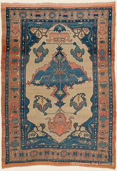 "BAKSHAISH, 5' 2"" x 7' 5"" — Circa 1850, Northwest Persian Antique Rug - Claremont Rug Company"