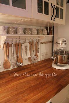 Shelving, wooden countertop; by erdbeerdiamant