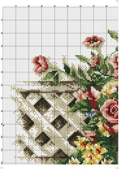 Kanaviçe Tablo Örnekleri (2) Counted Cross Stitch Patterns, Cross Stitch Charts, Cross Stitch Designs, Cross Stitch Embroidery, Embroidery Patterns, Cross Stitch Rose, Cross Stitch Flowers, Red And Pink Roses, Cross Stitch Pictures
