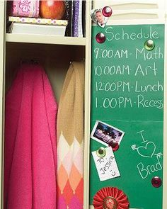 Schoolhouse Green Chalkboard Decals- Wallies - - Such a great idea for school lockers. The peel-and-stick adhesive doesn't leave behind any sticky residue! Wall Stickers Murals, Wall Decals, Note Memo, School Lockers, Jar Labels, Cool Office, Paint Drying, Blackboards, Office Gifts
