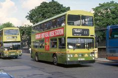 VHMA bodied Ld in Nassau Street, Dublin, July 1993 The Wallace Arnold coach parked is not what it seems. Premier Travel 406 was waiting for its' passengera visiting Trinity College while the driver was busy photographing buses! Bus Terminal, Bus Coach, Dublin City, London Bus, Bus Stop, Busses, Coaches, Old Photos, Trains