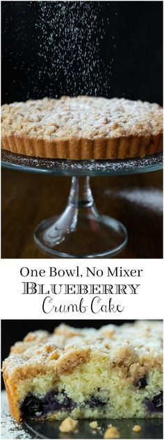 This moist, tender Blueberry Crumb Cake is easy to make (no mixer required) and it's so delicious. Everyone who tries it goes crazy! via @cafesucrefarine