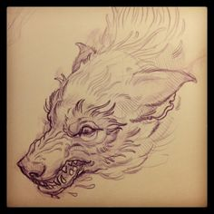 sufferme:  sketching out the wolf of wolves for tomorrow. looks like a good time waiting to happen… mike moses www.thedrowntown.com #spiritu... Wolf Tattoo Back, Wolf Tattoos, Animal Tattoos, Tattoo Design Drawings, Tattoo Sketches, Cool Drawings, Alexander Grim, Wolf Sketch, Type Tattoo