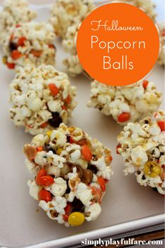 These easy-to-make popcorn balls are perfect for a Halloween party or a quite night in! Get the recipe here.