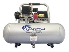 The CALIFORNIA AIR TOOLS 2010A Ultra Quiet & Oil-Free Air Compressor is designed to be one of the quietest air compressors in the industry having only 60 decibels of sound. The powerful 1.0 HP (SP-9413) motor operates at only 1680 RPM creating less noise and less wear.