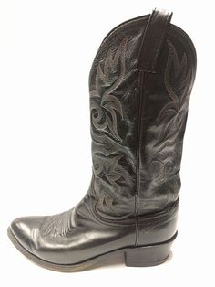 Mens DAN POST 16461 Black Leather Western Cowboy Boots size 9.5EW USA | Clothing, Shoes & Accessories, Men's Shoes, Boots | eBay!