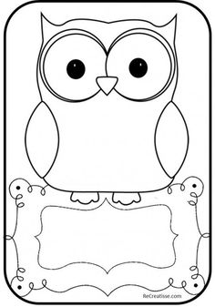 Owl Theme Classroom, Classroom Projects, Classroom Teacher, Kindergarten Classroom, Classroom Ideas, Owl Bulletin Boards, Owl Outline, Black And White Owl, Clipart Black And White