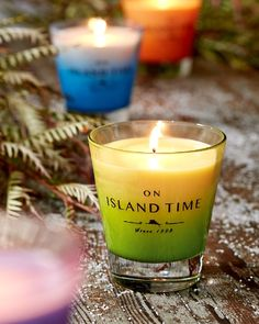 """""""On island time""""...Tommy Bahama  Pineapple Paradisio Cocktail Candle"""