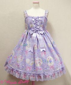 Angelic Pretty Jewel Marineフリルジャンパースカート