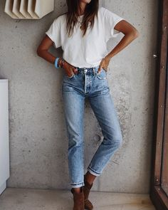 Women Jeans Outfit Plus Size Online Shopping Ladies Cream Trousers Leather Look Jeans Girls Camo Pants Boyfriend Jeans Style Jeans And Heels Outfit – azalearlily Look Fashion, Fashion Outfits, Womens Fashion, Fashion Trends, Women's Casual Fashion, Fashion Clothes, Cheap Fashion, Affordable Fashion, Modest Fashion
