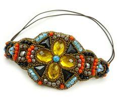 Colorful Rustic Ethnic Bold Beaded Headband . Ecaterina