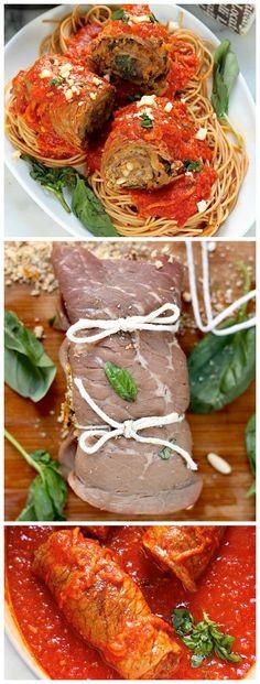 Sicilian Braciole ***Use GF all-purpose flour, GF Panko, GF Italian breadcrumbs & your favorite GF spaghetti***