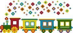 Counted cross stitch pattern. Flower Train. by NiceStitchGifts, $4.50