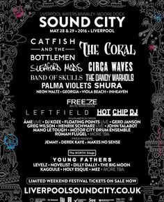 Liverpool Sound City line up for 2016