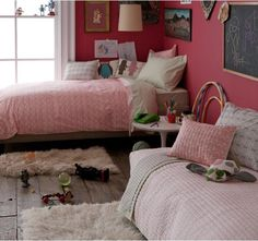 Is it crazy that I want this pink organic bedding in my own bedroom? But I'll settle for my daughter's room...