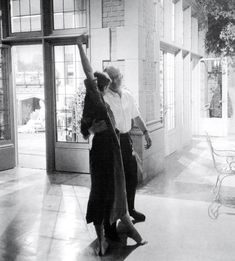 """provst: """" """"Audrey Hepburn dancing with director Billy Wilder on the set of Sabrina by Mark Shaw, 1953 """" """""""