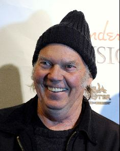 Neil Young, rock and roll goober.