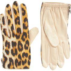 3.1 Phillip Lim Leopard Driving Gloves at Barneys.com