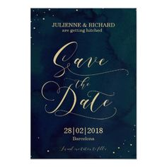 Snowy Night | Winter Wedding Save the Date Card