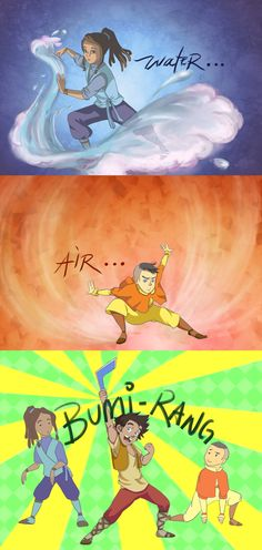 -The Special Element by =siquia. Aang's kids...