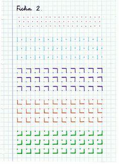 Graph Paper Drawings, Graph Paper Art, Tracing Worksheets, Preschool Worksheets, Notebook Drawing, Improve Handwriting, Beautiful Handwriting, Bullet Journal School, 1st Grade Math