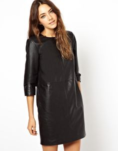 ASOS Shift Dress in Leather http://fashionandfrappes.wordpress.com/2014/10/29/my-shopping-bag-faux-leather-love/