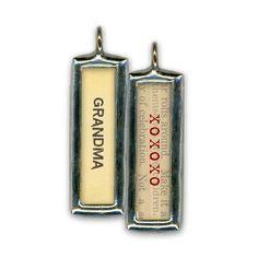 Grandma • XOXOXO Soldered Glass Pendant / Charm