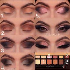 Super makeup tutorial eyeshadow maquillaje Ideas Super Make-up Tutorial Lidschatten Make-up Ideen Eye Makeup Steps, Simple Eye Makeup, Smokey Eye Makeup, Eyeshadow Makeup, Drugstore Makeup, Eyeshadow Ideas, Natural Makeup, Soft Makeup, Pink Eyeshadow