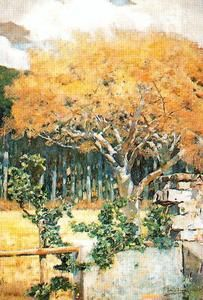 Trees Along The River - (José Villegas Cordero)