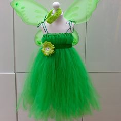 Items similar to Disney Tinkerbell Fairy Inspired Costume Outfit Age's 3 up to Age 7 FREE Headband! on Etsy Tinkerbell Fairies, Tinkerbell Party, Halloween Party, Tulle, Fairy, Costumes, Inspired, Trending Outfits, Disney