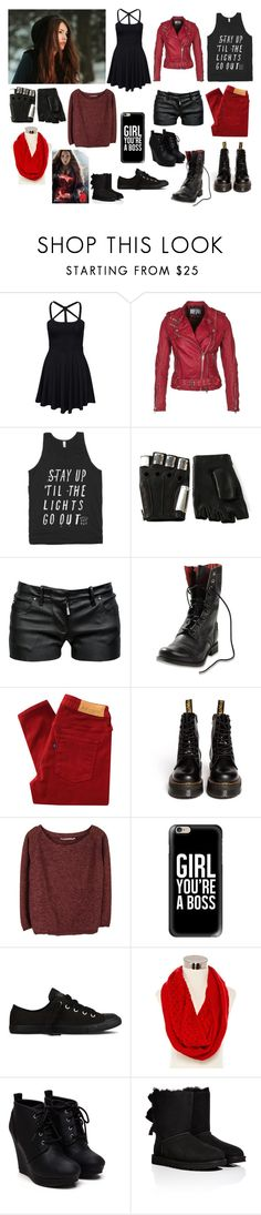 """""""Waverly Maximoff, daughter of the Scarlet Witch"""" by frootloop16 ❤ liked on Polyvore featuring New Look, Jofama, Majesty Black, Balmain, Diesel, Levi's Made & Crafted, Dr. Martens, Humanoid, Casetify and Converse"""