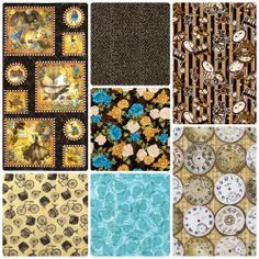 Fabric Friday - Steampunk with Quilting Treasures, Cosmo Textiles, Alexander Henry and Wilmington