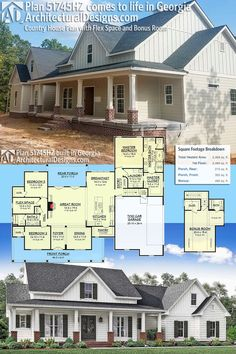 Our Client Is Building Modern Farmhouse Plan 51745HZ In Reverse Layout GeorgiaReady When