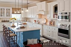 white cabinets, backsplash and counters. blue island.