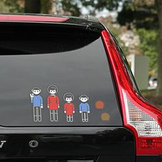 ThinkGeek :: Star Trek Family Car Decals      I'd totally buy these if they had DS9 characters.  Or even a female klingon.