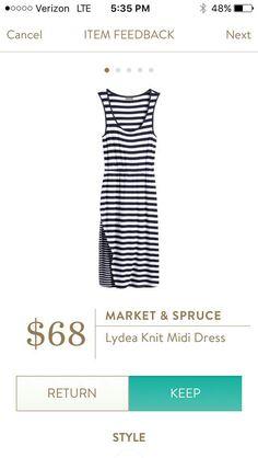 stitch fix market and spruce Kydea Knit Midi Dress