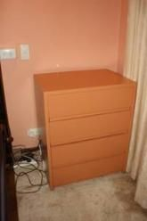 Painted small chest of drawers. Good condition. Downsizing no longer needed. Firm fair price.