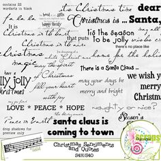 $1.50  Christmas Sentiments and Quotes  Key of D Designs  Digiridoo Scraps