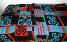 retro vintage blanket deken wolldecke 50s 60s carblanket