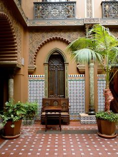 Image result for Moroccan clay tiles courtyards