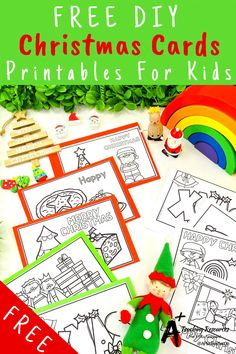 Looking for Christmas Literacy printables for kids? Check these gorgeous literacy centers for learning sight words, writing, spelling and more. Perfect worksheets for elementary school kids. Printable Christmas Cards, Diy Christmas Cards, Christmas Themes, Christmas Crafts, Kindergarten Crafts, Classroom Activities, Book Activities, Preschool, School Kids