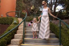 Matching chevron maxi skirt & toddler dress project.