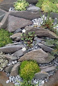 Erstaunlich Garten Ideen Mit Steingarten – Y… - What You Need To Know About Gardening Landscaping With Rocks, Front Yard Landscaping, Backyard Landscaping, Landscaping Ideas, Backyard Ideas, Gardening With Rocks, Sloped Backyard, Modern Backyard, Rock Garden Images