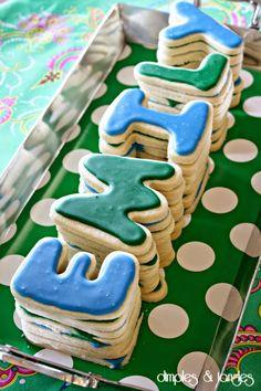 Birthday Name Cookies  ||  Birthday Cake Alternative  ||  Alphabet Sugar Cookies  ||  Birthday Party Treats